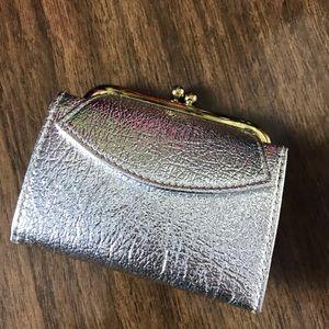 Vintage St. Thomas Metallic Wallet Billfold